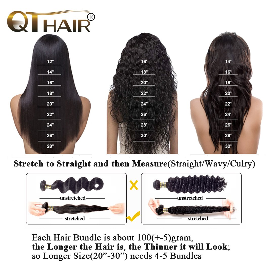 QTHAIR 10A Brazilian Body Wave Lace Closure (14inch) 4x4 Free Part Swiss Lace Closure Natural Black Brazilian Virgin Human Hair Top Swiss Lace Closures by QTHAIR (Image #8)