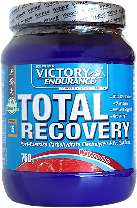 Victory Endurance Total Recovery. Maximiza la recuperación después del entrenamiento. Enriquecido con electrolitos y vitaminas. Sabor Sandía (750 g)