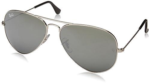 c584a696b4 Ray-Ban RB3025 Aviator Gafas de sols, Plata: Amazon.com.mx: Ropa ...