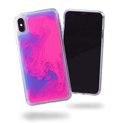 Amazon.com: SteepLab Neon Sand Liquid iPhone Xs Max Funda ...