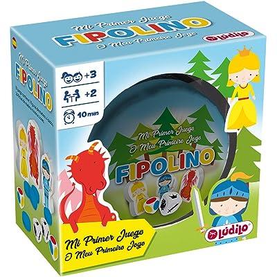 LUDILO-Fipolino mesa para niños, familia educativo, mi primer juguete, viaje, juego playa, Lógica y velocidad 80870