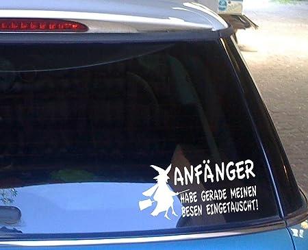 Cartattoo4you Ak 00592 Hexe AnfÄnger Habe Gerade Meinen Besen Eingetauscht Autoaufkleber Aufkleber Hexe Hexen Farbe Pink Magenta In 24 Farben Erhältlich 20 X 9 5 Cm Auto