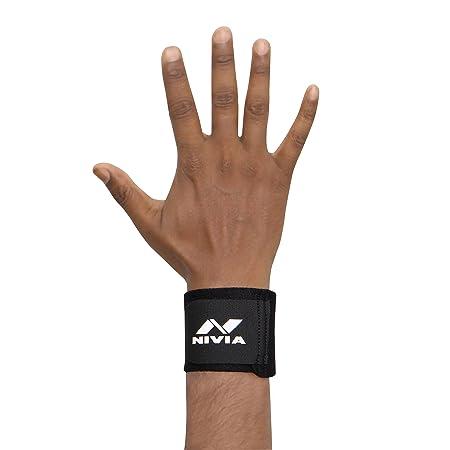 Nivia Orthopedic Basic Wrist Support   Free Size, Black