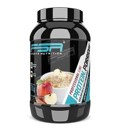 Porridge proteico, Gachas de avena con proteína en polvo de suero de leche con fruta y ...