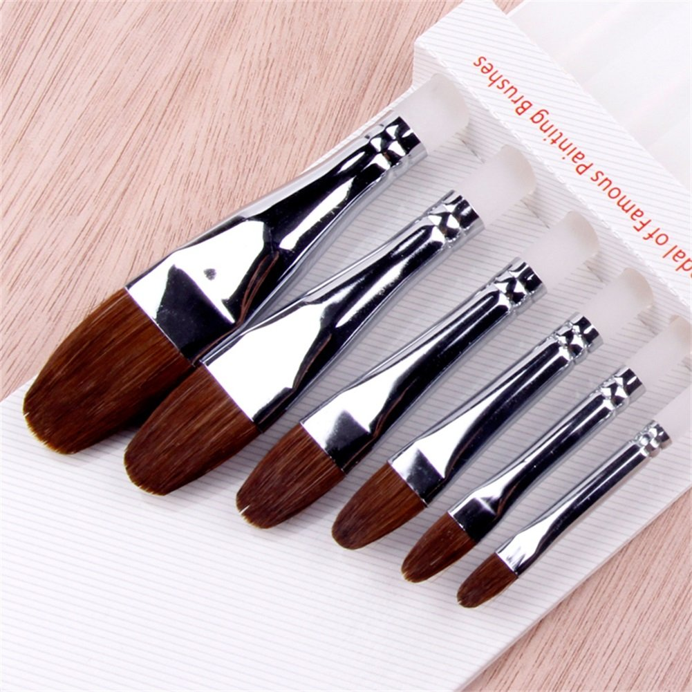 5 Pcs Best Professional Detail Paint Brush,High Quality Miniature Brushes Will Keep a Fine Point and Spring, For Watercolor, Oil, Acrylic, Nail Art & Models NCFDBL