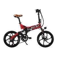 Rich Bit® RT 730 Electric Bike eBike Klapprad 250 W * 48 V 8 Ah LG Akku 7Speed 7 Gängen ausgestattet Handy-Ladegerät und Halter Dual Mechanische Bremse, 50,8 cm