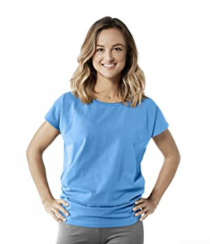 Lotuscrafts Camiseta de Yoga para Mujer, Larga, de algodón biológico: Amazon.es: Deportes y aire libre