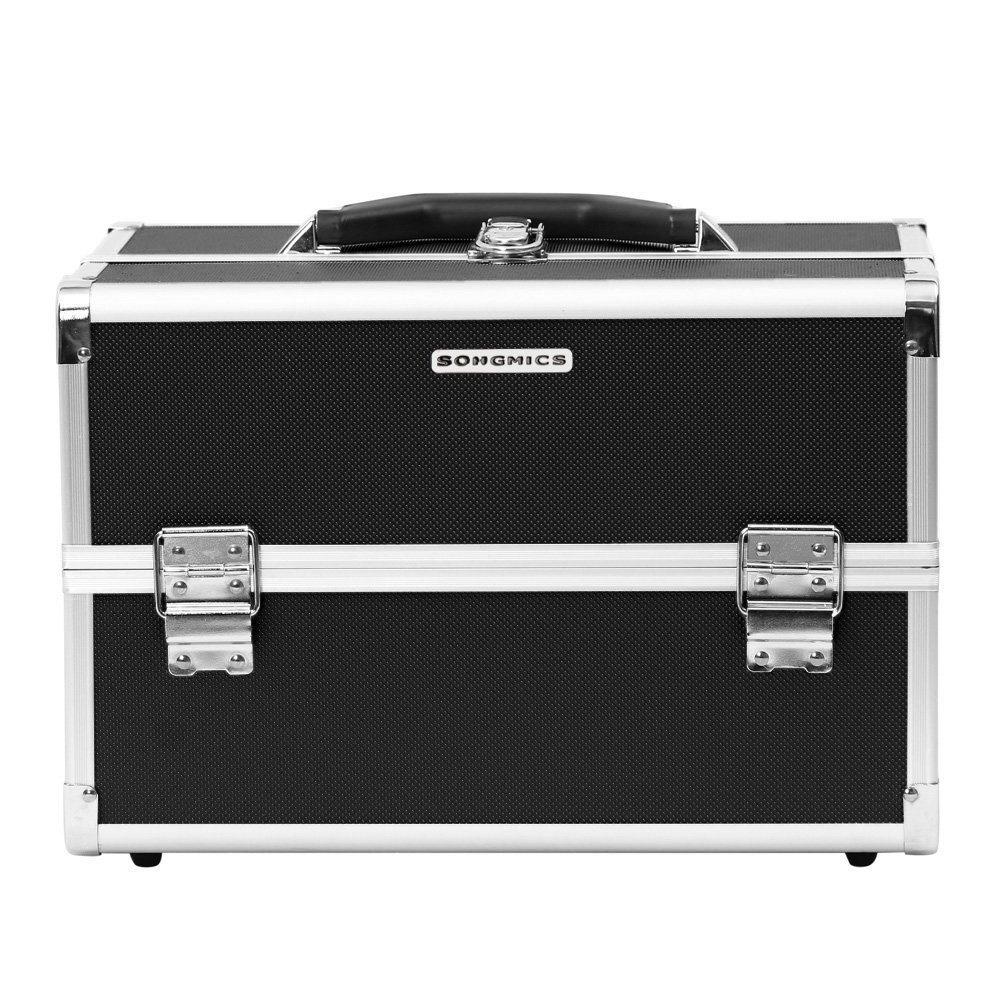Songmics® Beauty Case Cofanetto Trucco 36,5 x 24 x 24 cm Make Up Bagaglio a mano Valigia Nail Art JBC227B