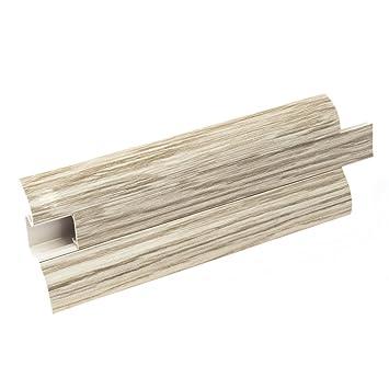 Au/ßenecke 62mm PVC Eiche alt Laminatleisten Fussleisten aus Kunststoff PVC Laminat Dekore Fu/ßleisten DQ-PP