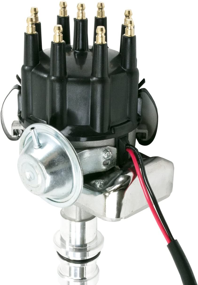 A-Team Performance Small Block SBF R2R Ready 2 Run Complete Distributor Compatible With Ford 289//302 2-Wire Installation Black Cap