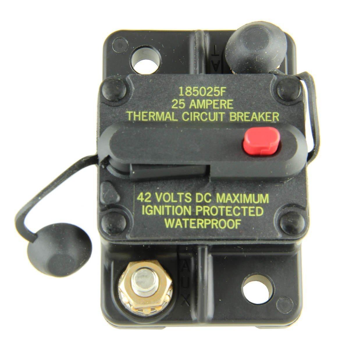 Bussmann CB185-25 Surface-Mount Circuit Breakers, 25 Amps Cooper Bussmann
