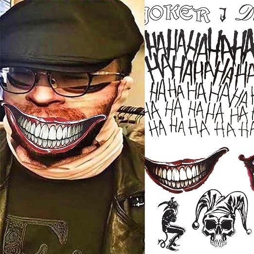 haosshop 5 hojas tatuajes temporales pegatinas el Joker tipo ...