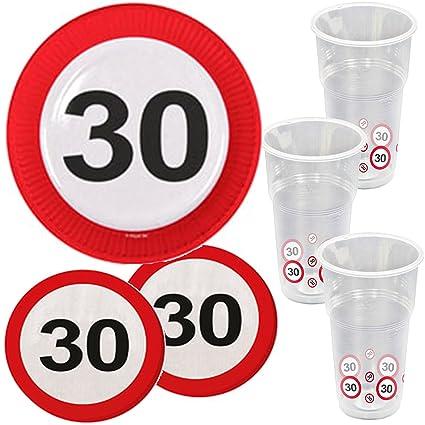 39 piezas Party * 30. Cumpleaños * con señal de tráfico de ...