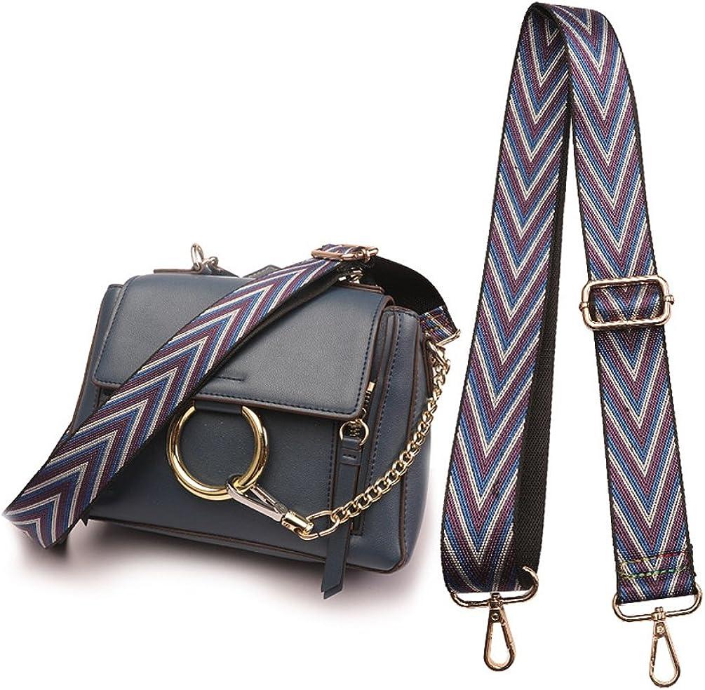 3.8cm wide Adjustable Shoulder Bag Strap Crossbody Strap Gray Copper and White Color