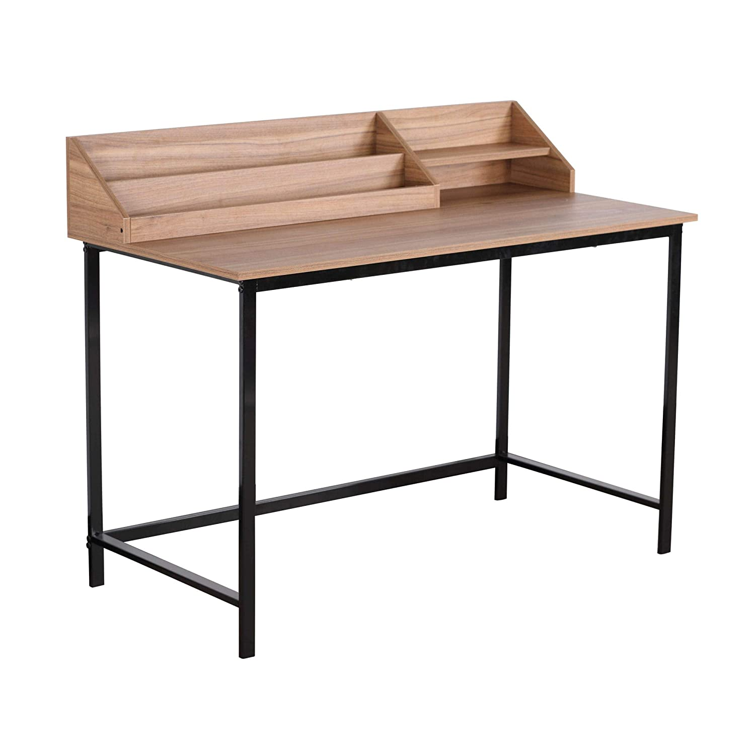 Stupendous Moustache Wood Writing Desk Reading Table Workstation With Hutch Desktop Tray Organizer Storage Rack For Computer Home Office School Study Interior Design Ideas Inesswwsoteloinfo