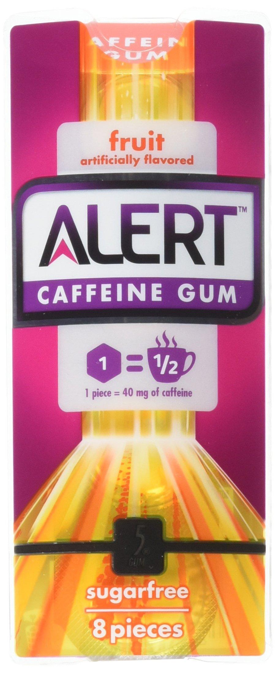 Amazon Com Alert Fruit Energy Caffeine Gum Artifically