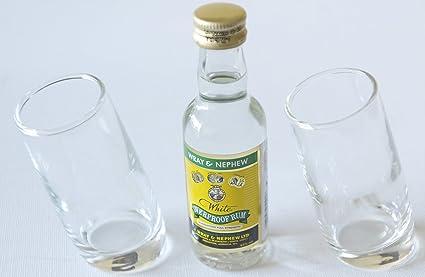 Par de Ludico inclinado vasos de chupito (60 ml) con Wray ...