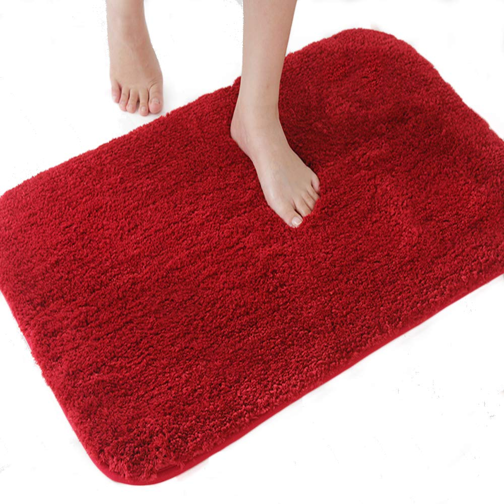 DADA Small Bath Mat Fluffy Bathroom Rug Non-slip Absorbent Luxury Soft Microfiber 50 * 60 cm White - 3 Sizes 5 Colors Available Ltd
