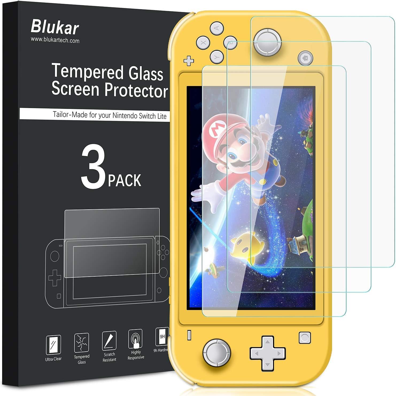 Blukar Protector Pantalla Nintendo Switch Lite(2019), [3 Pack ...