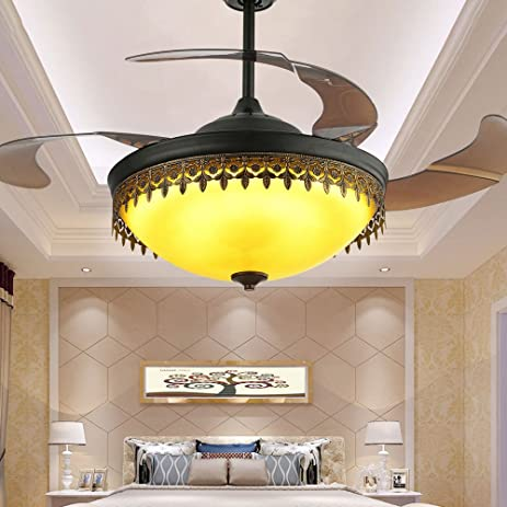 TiptonLight Irregular Ceiling Fan Light with 4 Retractable Acrylic ...