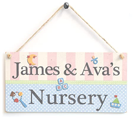 Anitas Country Crafts Bebé Placa - Personalizable Nombre ...