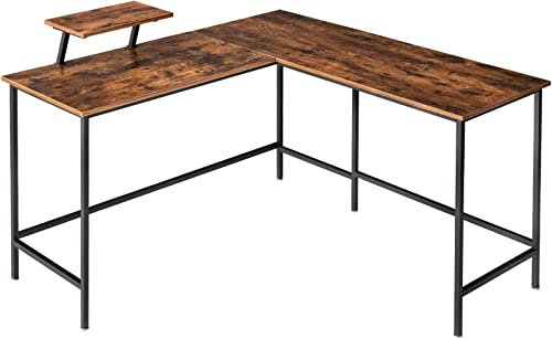 IBUYKE Industrial 53.1 L-Shaped Computer Desk