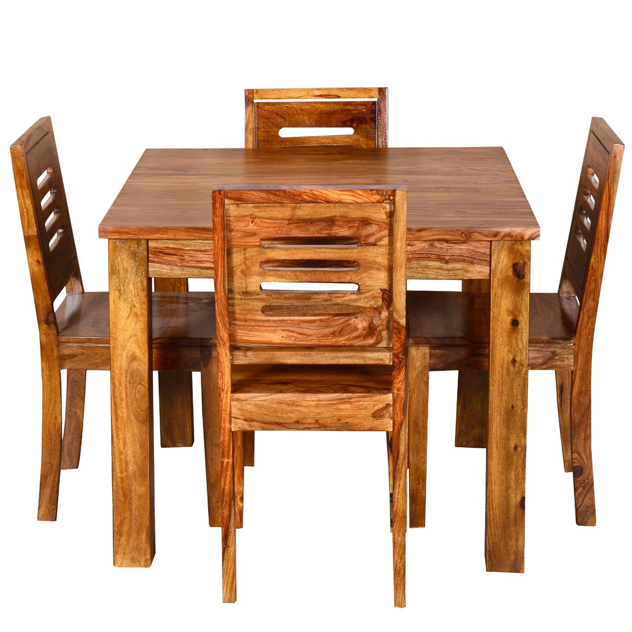 Ringabell Square Four Seater Solid Wood Dining Table (Brown): Amazon.in:  Home U0026 Kitchen