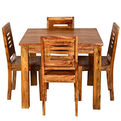 ringabell square four seater solid wood dining table brown amazon rh amazon in solid wood kitchen tables for sale solid wood kitchen tables for sale