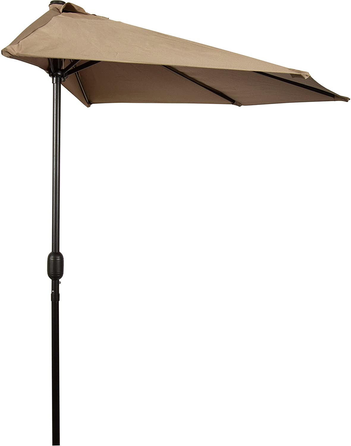 Amazon.com : Patio Half Umbrella   9u0027   By Trademark Innovations (Tan) :  Garden U0026 Outdoor