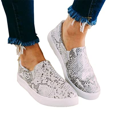 Mafulus Womens Slip on Sneakers Fashion Round Toe Casual Walking Loafers Flat Shoes | Loafers & Slip-Ons