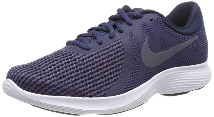 Nike Revolution 4 Herren blau mit blauem Streifen (Neutral Indigo/Light Carbon-obsidian-black)