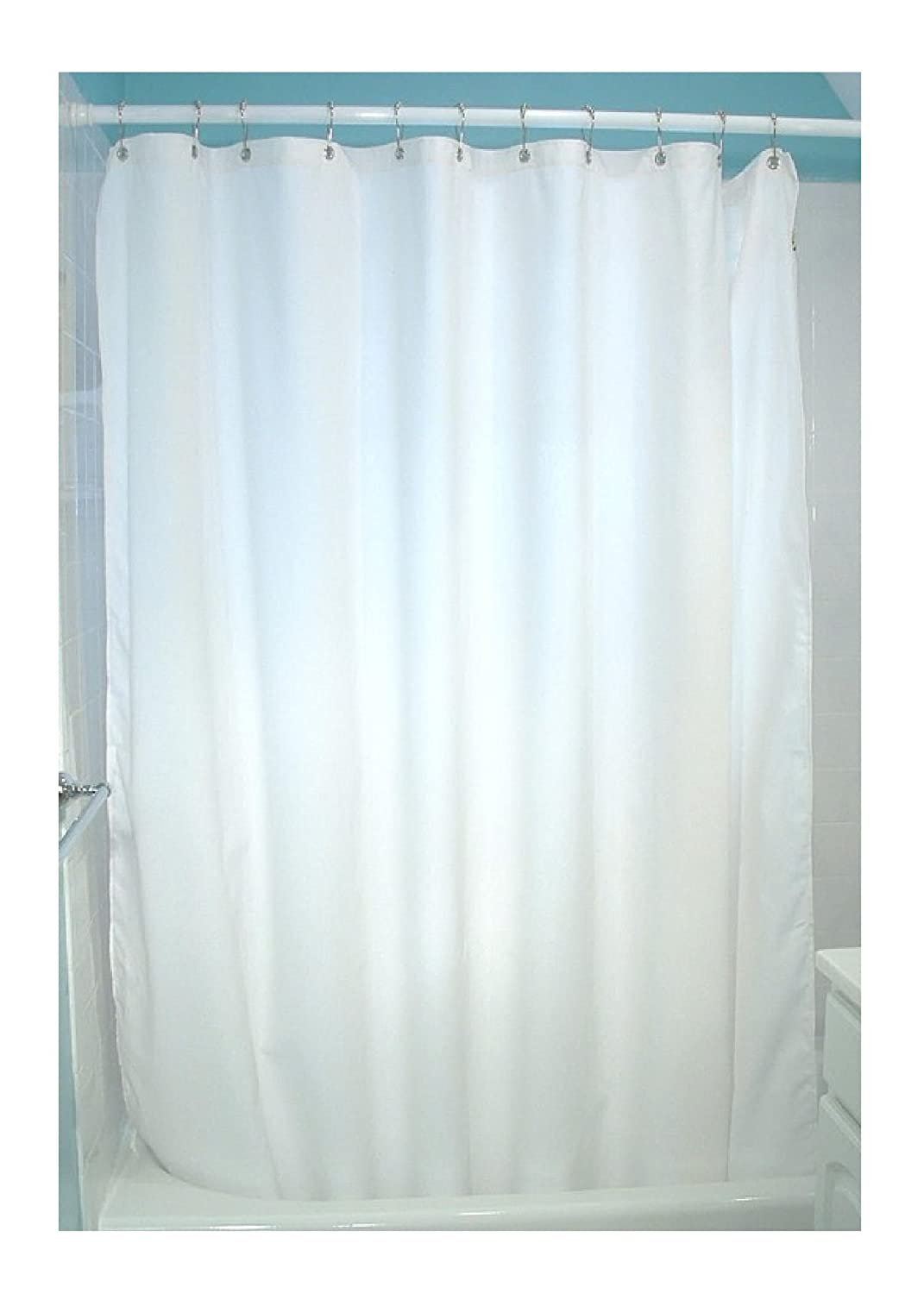amazoncom cotton shower curtain  white  oz duck fabric made in usa bybean products home  kitchen. amazoncom cotton shower curtain  white  oz duck fabric made