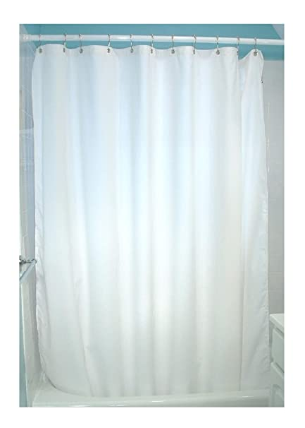Bean Products White Cotton Shower Curtain 7 Oz Duck Fabric