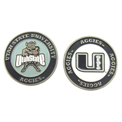 87c6421125b Image Unavailable. Image not available for. Color  Utah State Aggies NCAA  Double-Sided Golf Ball Marker