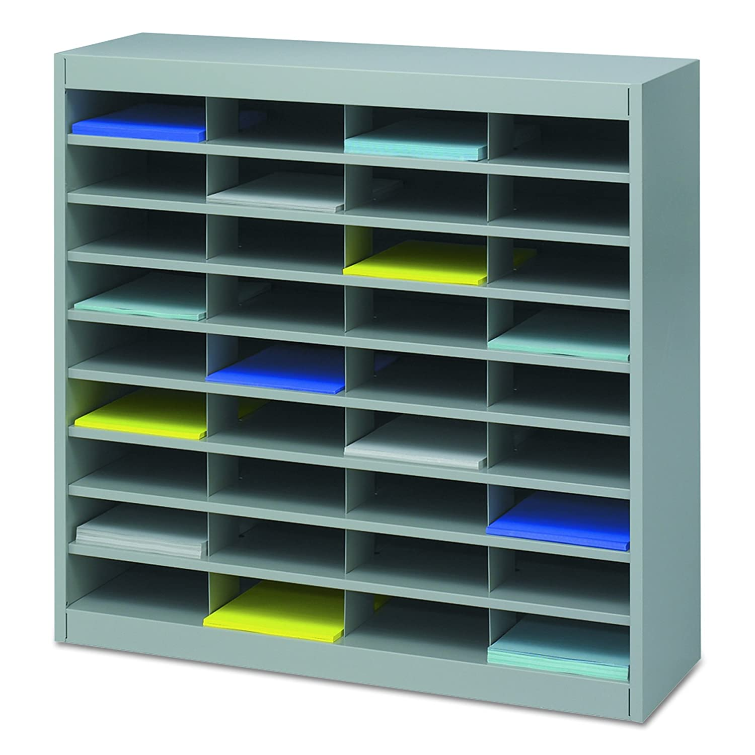 Amazon.com : Safco Products 9221GRR E-Z Stor Literature Organizer ...