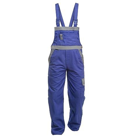 Arbeitsoverall Charlie Barato/® Profi Line  kornblau//grau Overall f/ür Handwerker Gr/ö/ße 48
