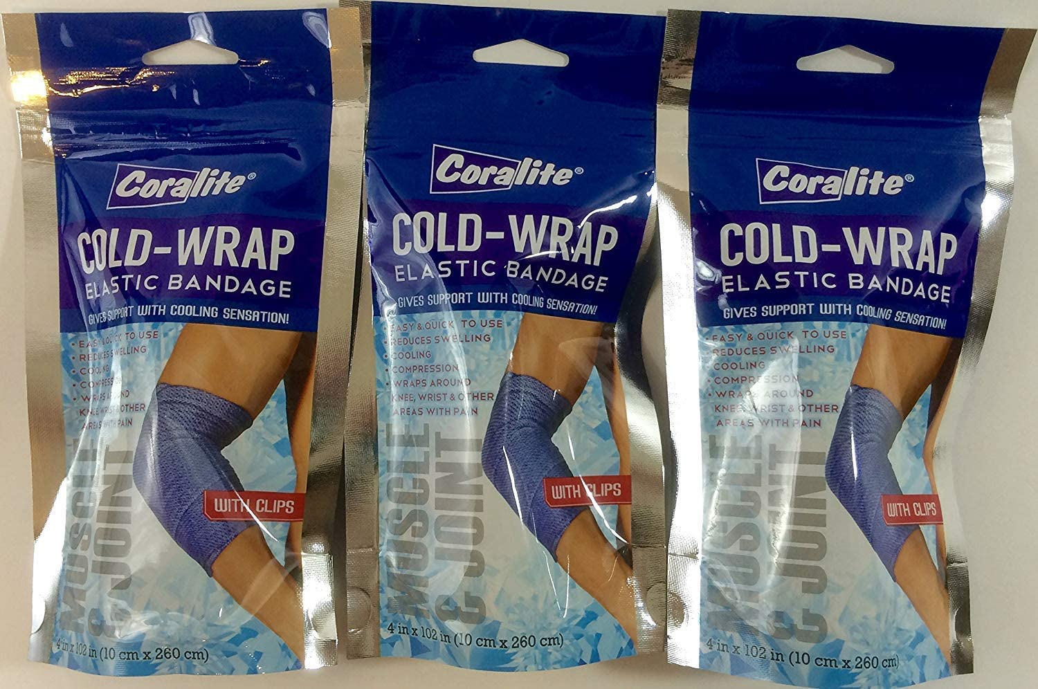 Amazon Com Coralite Cold Wrap Elastic Bandage Package Of 3