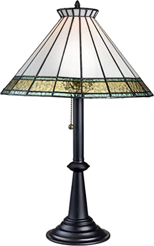 Bedroom Nightstand Lamp Desk Home Decor Windsor Blue Pale Turquoise Green Tiffany Stained Glass Table Lamp J Devlin Lam 654-2 TB