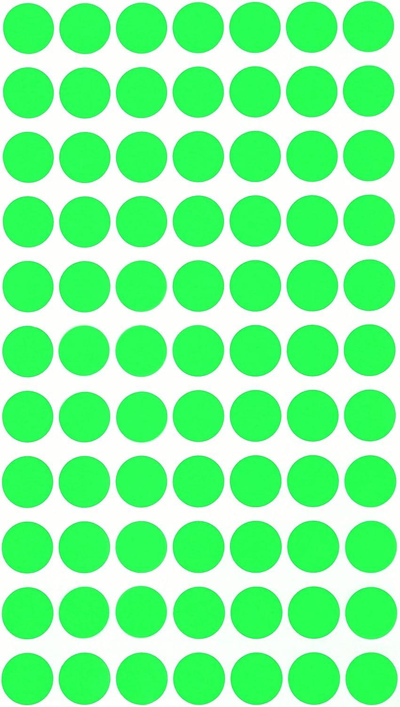 Sticker Gr/ün 15 mm runde Punkt Aufkleber in verschiedenen Farben Gr/ö/ße 1,5 cm Durchmesser Klebepunkte 770 Vorteilspack von Royal Green