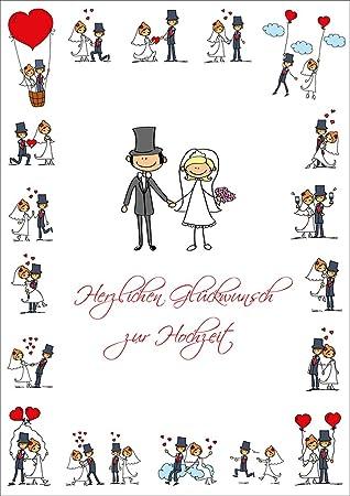 """LUSTIGE HOCHZEITSKARTE"""" A4 Glückwunschkarte Hochzeit im XXL DIN"""
