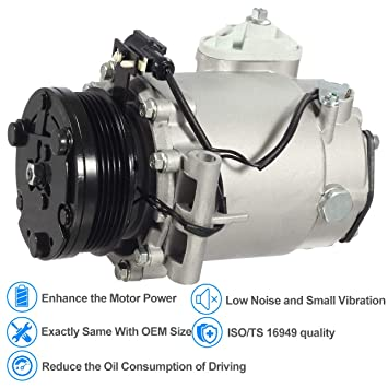 Amazon.com: AUTEX AC Compressor & A/C Clutch CO 10861AC 78570 140286C Replacement for 2004 2005 2006 2007 Saturn Vue 2.2L: Automotive