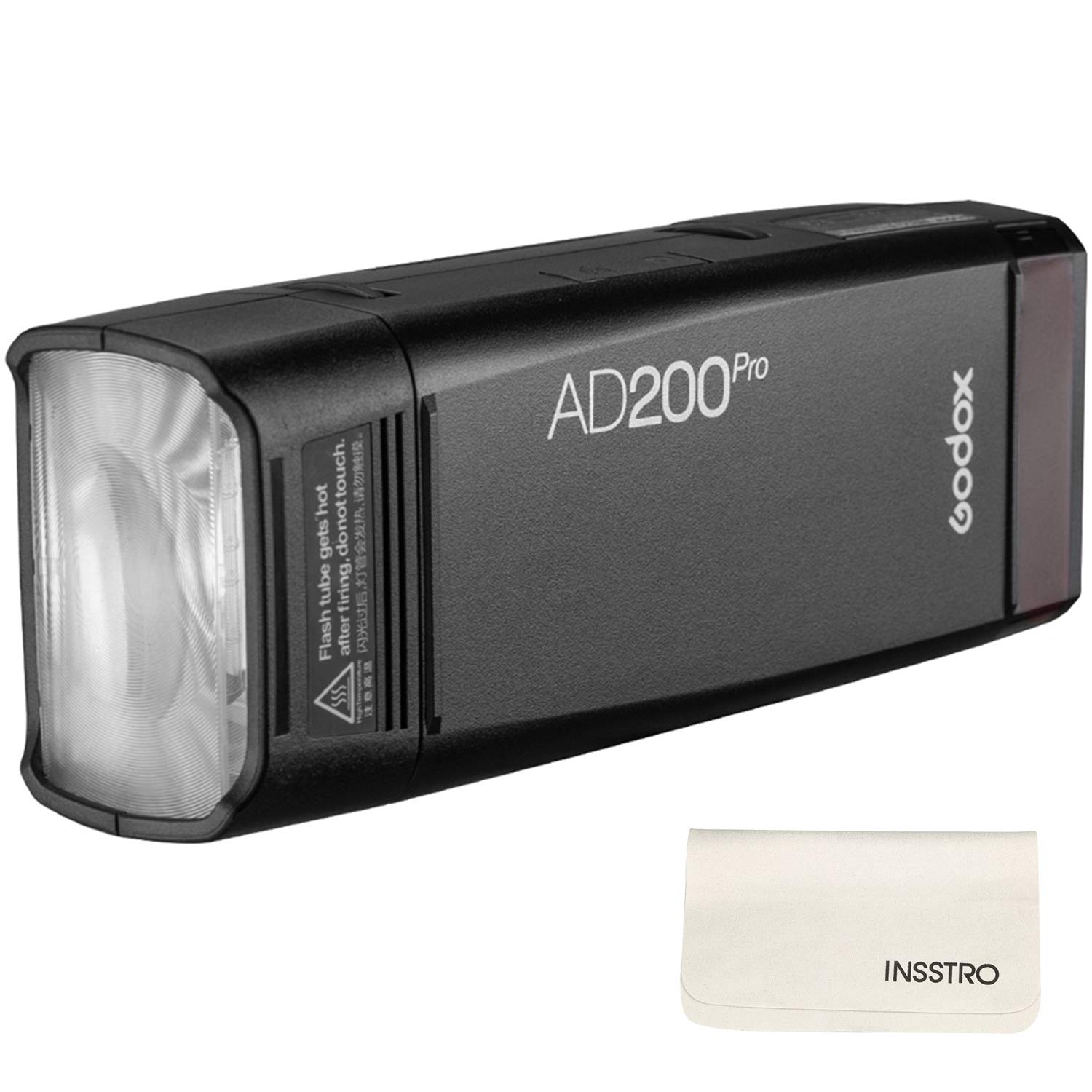 Godox AD200Pro Pocket Flash 2.4G TTL Speedlite Flash Strobe 1/8000s HSS Monolight with 2900mAh Lithium Battery 200WS and Bare Bulb Flash Head to Cover 500 Flashes and Recycle in 0.01-1.8 Sec by Godox