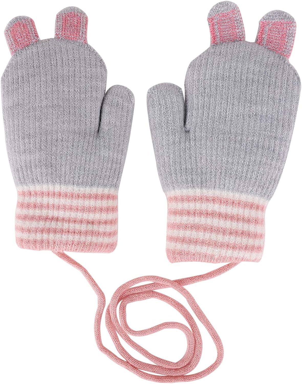 guantes c/álidos dise/ño de zorro Guantes y manoplas para ni/ños de 4 a 10 a/ños guantes de invierno de lana