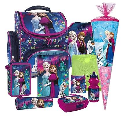 Disney Frozem Schulranzen Ranzen Schulranzenset Schulrucksack Set 10 teilig mit Schultüte 85 cm. 6 eckig Redenschutz Bastelsc