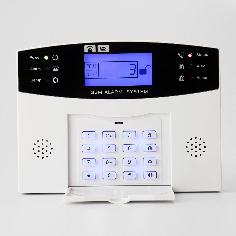 Dingcaiyi gsm Sistema De Alarma Inalámbrica Touch De Seguridad Inalámbrica Hogar Home Ladrón Sistema De Seguridad: Amazon.es: Deportes y aire libre