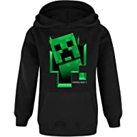Minecraft Creeper Inside Boy's Black Hoodie