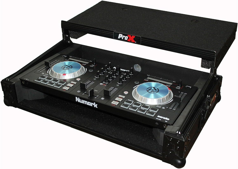 ProX X-MXTPRO3LTBL Black Travel Flight Case For Mixtrack Pro 3 w/Laptop Shelf
