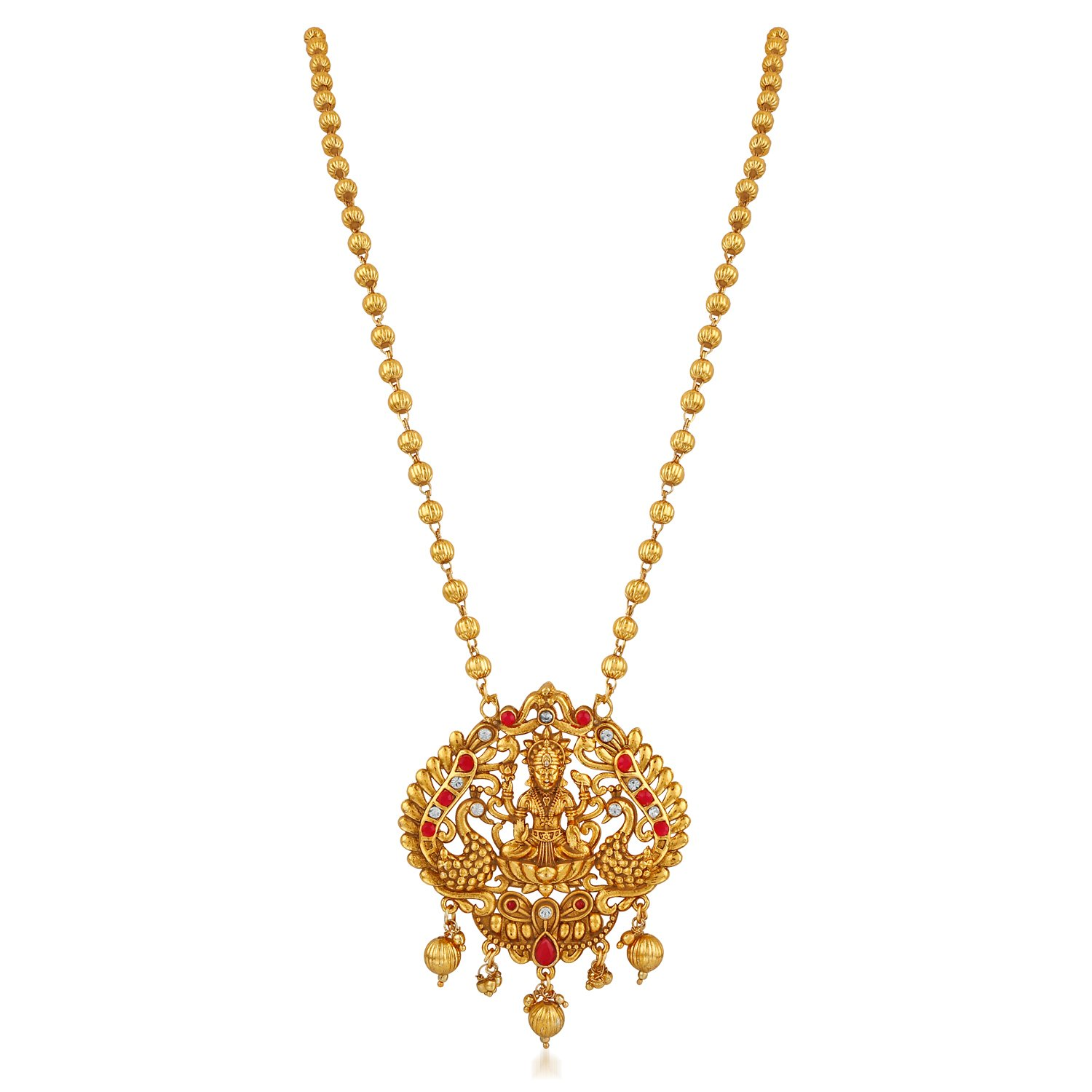 Apara Gold Plated South Indian Temple Jewellery Necklace Set for Women/Girls