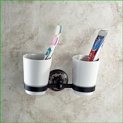 Toallas de baño Florales Negros Euro-Copper y portarrollos toallero Percha baño Gancho es embalado