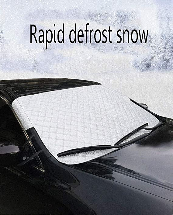 Amazon.com: ZHANGZHIYUA Car Windshield Snow Cover & Sun Shade ...
